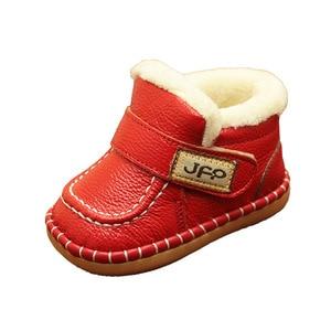 Image 4 - הכי חדש בני תינוק מגפי שלג חם חורף קטיפה עור אמיתי עבור תינוקות מכירה