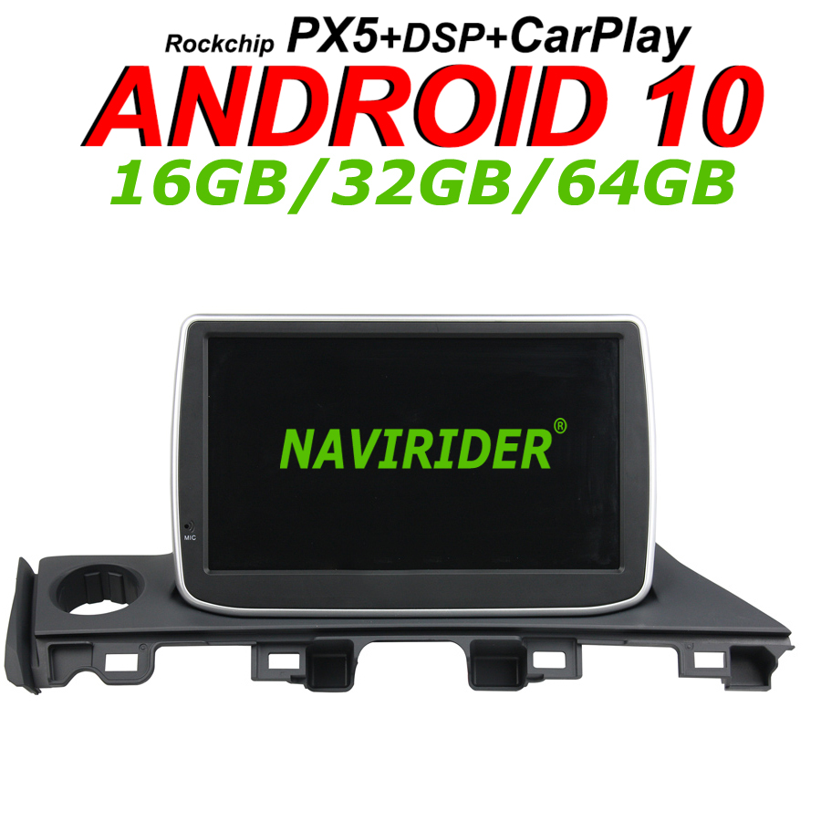 Navirider GPS navigation For Mazda6 <font><b>MAZDA</b></font> <font><b>6</b></font> <font><b>ATENZA</b></font> 2018 stereo headunit Car <font><b>android</b></font> 10 8core 64gb rom radio bluetooth player image