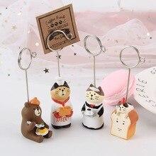 Sharkbang Kawaii Bread Cat Resin Memo Holder Clip Photo Card Stand Folder Clip Decorative Clip Kawaii Stationery