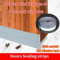 5 м самоклеящаяся уплотнительная полоса двери и окна Звукоизоляционная Пылезащитная дверная шва Кремниевая Резина ветрозащитная силиконо...