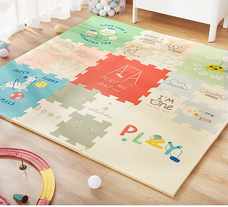 H4fbb6b026559416e9ffe29c418be2943r BabyGo Puzzle Baby Play Mat XPE Foam Waterproof 2cm Thickened children's Carpet Crawling Pad Living Room Activity Floor Mat