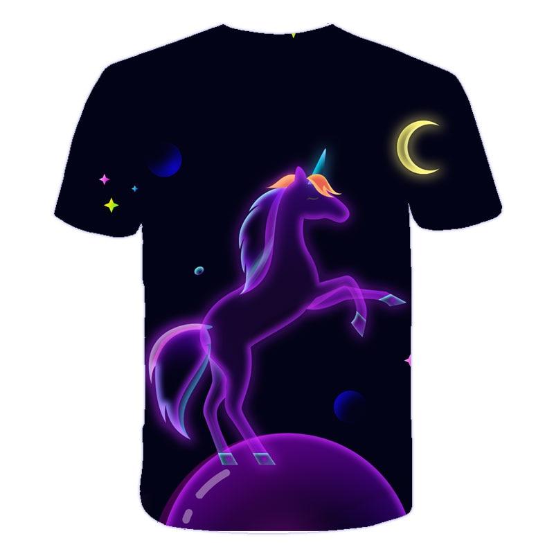 H4fbb824327e147e48e5e1f46e7ab3b37J Baby Girls T-shirt 4 5 6 7 8 9 10 11 12 13 14 Years Unicorn Kids T Shirt Children Clothes Summer Unicorn T shirts Girl s Tee