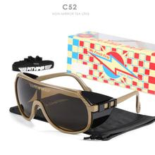 New Pit Viper One Piece Sunglasses Oversized Mirror UV400 Goggle Oval Flat Top Colorful Shades With Free Box