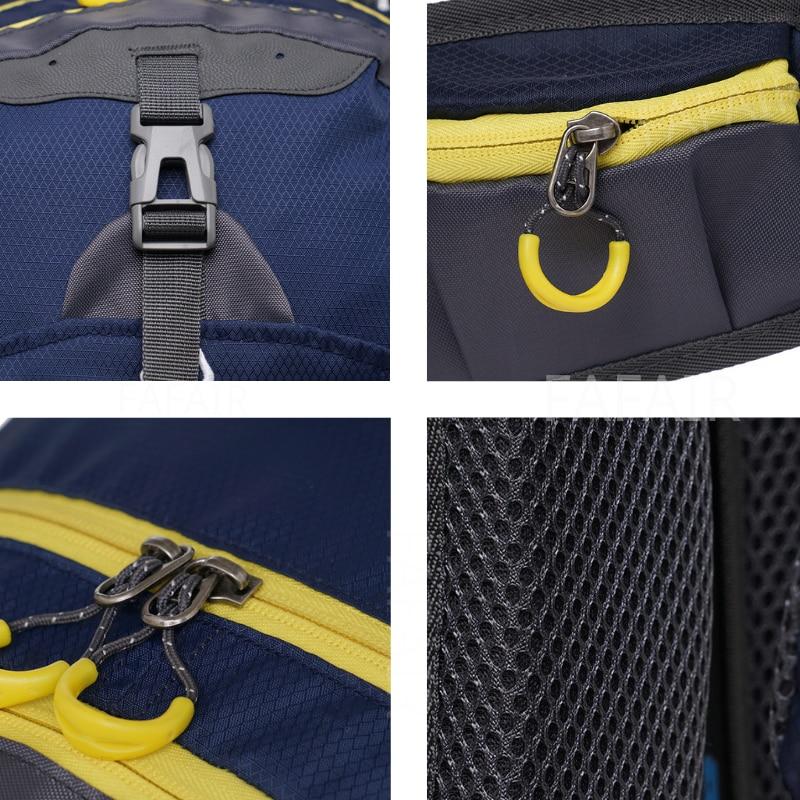 Sac à dos de sports en plein air pour homme 40L, pratique pour les voyages d'excursion et les randonnées, étanche à l'eau 5
