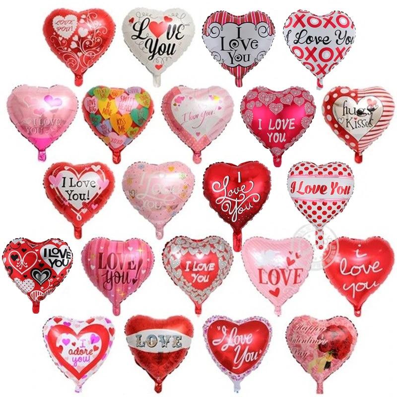 "18/"" Inch Love Heart Shape Foil Balons Helium Balloons Birthday Party Decor"