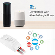 Sonoff Dual R2 WIFI Wireless Smart Switch 2 Gang Smart Wifi Remote Controller Kompatibel dengan Google Home Alexa(China)