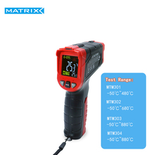 Laser Infrared Thermometer Instant-Read  with Adjustable Emissivity 0.5sec responce LED Matrix Tester MTM-301 302 303 304