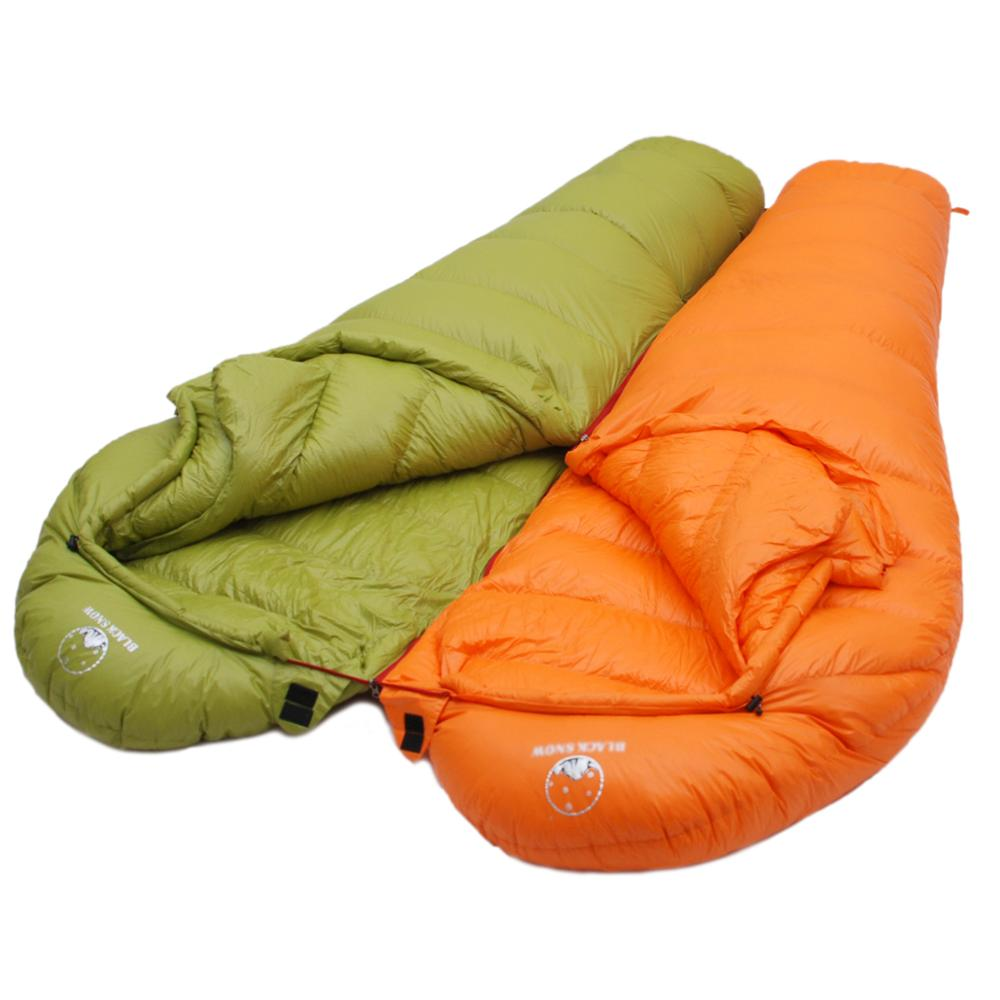 Image 3 - Winter Ultralight Thermal Adult Mummy 95% White Goose Down  Sleeping Bag Sack W/ Compression Pack For Backpacking Camping  HikingSleeping Bags
