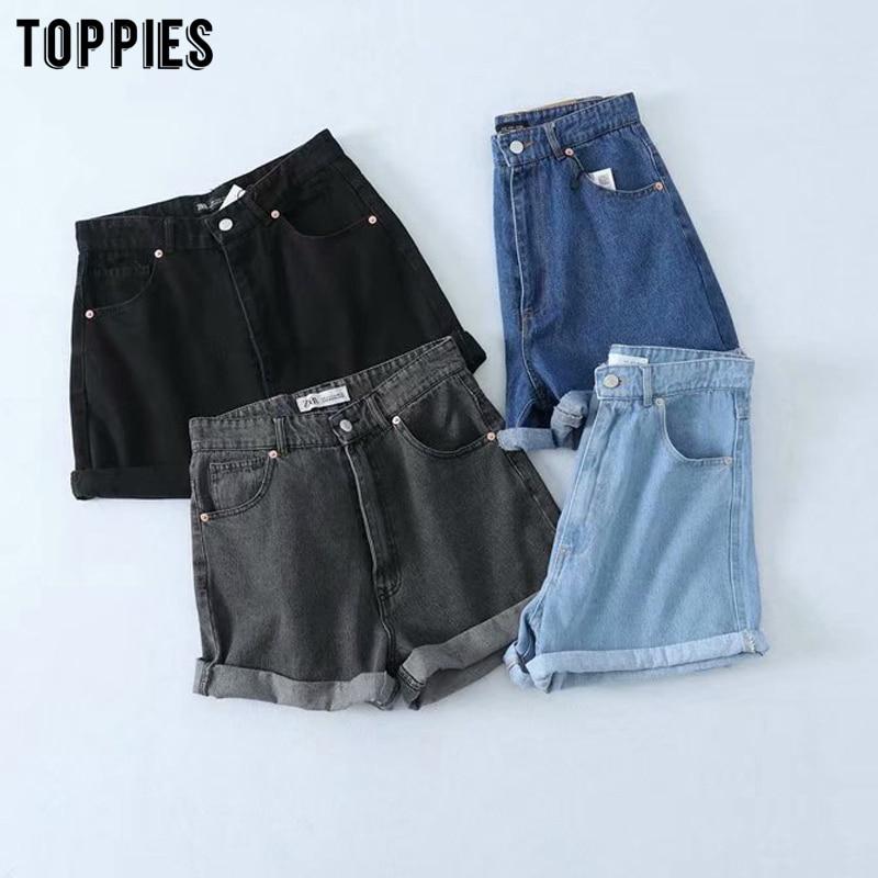 Summer Jeans Shorts High Waist Denim Shorts Womens Clothing Pantalones Cortos Mujer