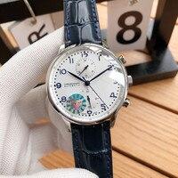 Reloj de marca superior para hombre  reloj deportivo automático multifunción con cronógrafo y cristal de zafiro Reloj Retro