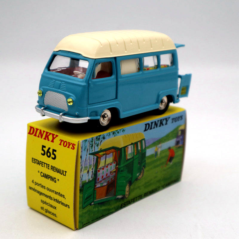 Atlas 1:43 DINKY TOYS 565 ESTAFETTE RENAULT CAMPING WAGEN Diecast Models Car Collection