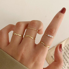 LETAPI Fashion Jewelry Rings Set Hot Selling Metal Alloy Hollow Round Women Finger Ring For Girl Lady Party Wedding Gifts