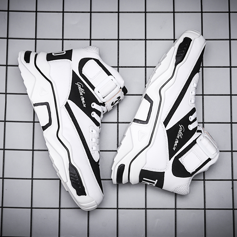 New Korean Version of the Trend of Men's Sports AJ Shoes in Spring and Autumn  Pop Trendy Shoes high top sneakers off white
