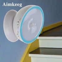 Led sensor de movimento ativado luz noturna lâmpada indução 360 graus rotação luz parede para cozinha quarto gabinete aaa alimentado