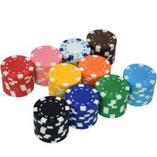10 stks/partij Groothandel Casino ABS + Ijzer + Clay Poker Chip Texas Hold'em Poker Metalen Munten Black Jack Chips Set poker Accessoires()