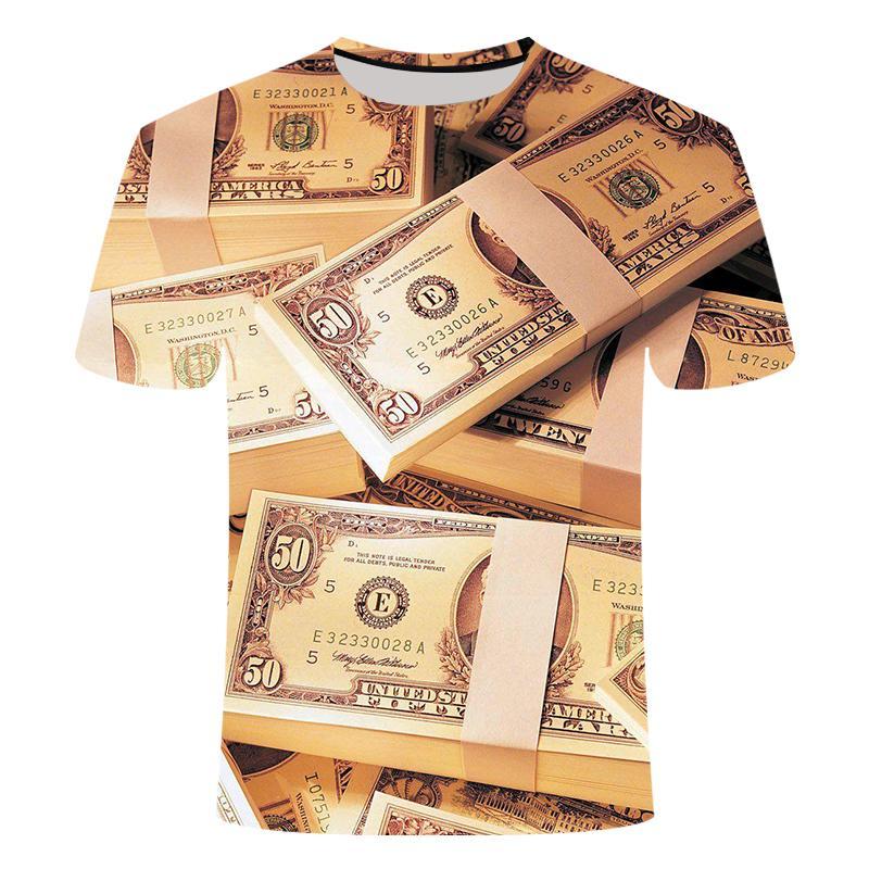 2020 para 3d baskılı erkek tişört moda yuvarlak boyun çocuklar/erkek kısa kollu