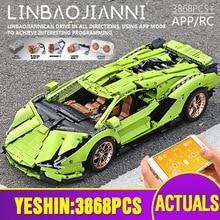 MOC Technic voiture blocs de construction compatibles avec 42115 Lamborghinis Sian FKP 37 voiture modèle assemblage briques enfants cadeaux de noël