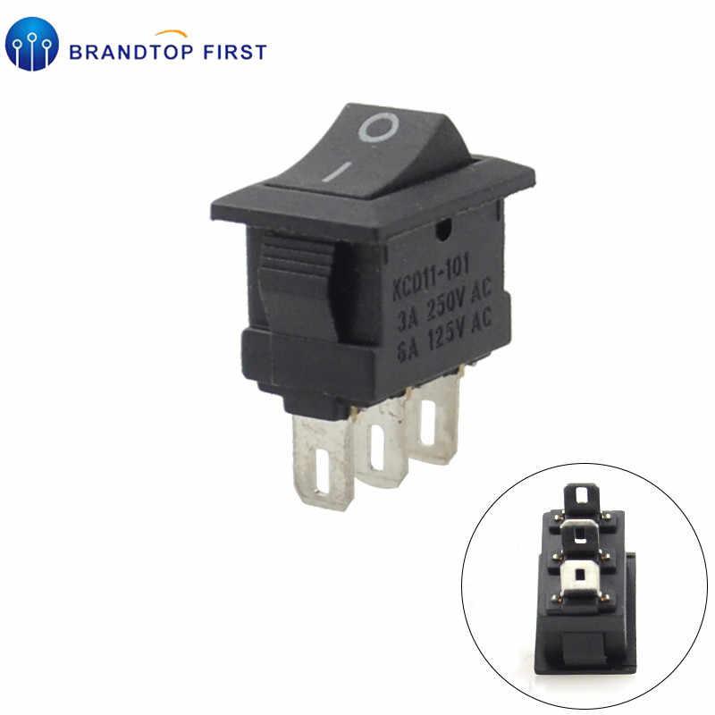 10*15MM Interrupteur À Bascule Noir 2Pin/3Pin 3 Fichier Bascule interrupteur 3A250V interrupteur D'alimentation