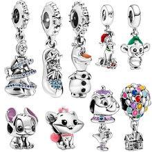 2020 yeni 925 ayar gümüş takılar serisi boncuk Fit orijinal Pandora bilezik takı yapımı hediye 89 türleri