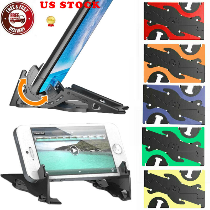 Universal Foldable Phone Holder   Card Type Rotatable Mobile Phone HolderCard Pocket Stand Adjustable Support