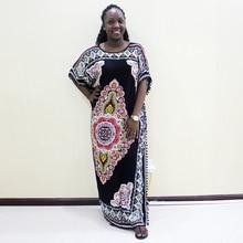 Dashikiage 100% قطن أسود Pompom تقليدي طباعة Bohe فساتين غير رسمية للنساء