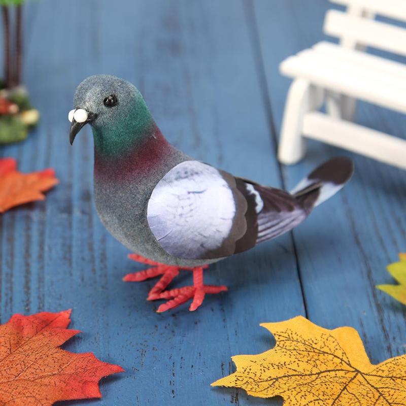 Simulation Foam Pigeon Model Fake Artificial Imitation Bird Animal Home Garden Ornament Miniature Decoration Home Decoration