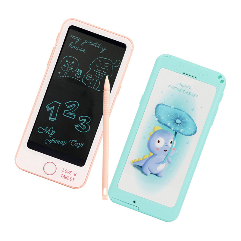 New Style 6-Inch LCD Tablet Children'S Educational Early Childhood Writing Board Creative Painted Electronic Drawing Board