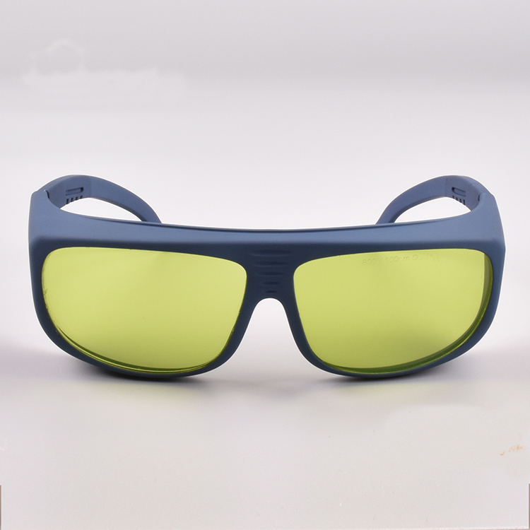 Óculos de segurança do laser para 190-40nm e 800-1100nm CE 6 + CE VLT 60% Com acessórios segura o saco e pano de limpeza