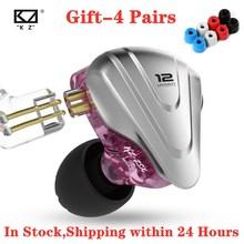 Kz Zsx Terminator 5BA + 1DD 12 Unit Hybrid In Ear Oortelefoon Hifi Metalen Headset Muziek Sport Voor AS12 AS16 Zsn ZS10 Pro X Zstx Z1 S1