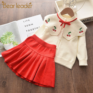 Bear Leader Girls Dresses 2020 New Fashion Princess Clothing Sweater Stitching Net Yarn Ball Gown Girls Dresses Clothes for 3-7Y