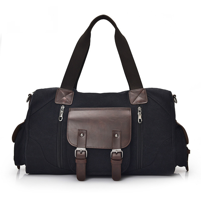 Zipper Breathable And Wearable Men's Canvas Bag Business Casual Travel Bag Large-capacity Fashion Men's Shoulder Crossbody Bag