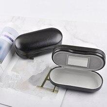 Многофункциональный двухслойный чехол для очков с зеркальной оправой из металла и кожи двойного назначения QLY9786