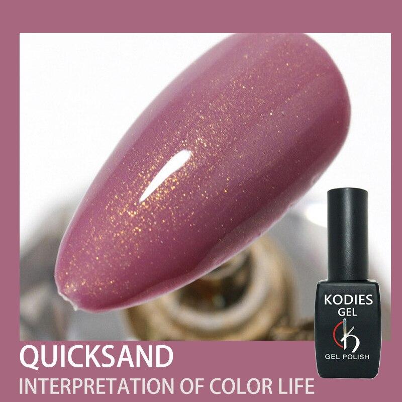 KODIES Gel Glitter UV Gel Nail Polish Hybrid Varnishes Quicksand Shiny Rose Gold Pink Gellak 8ML Long Lasting Nail Art Lacquer