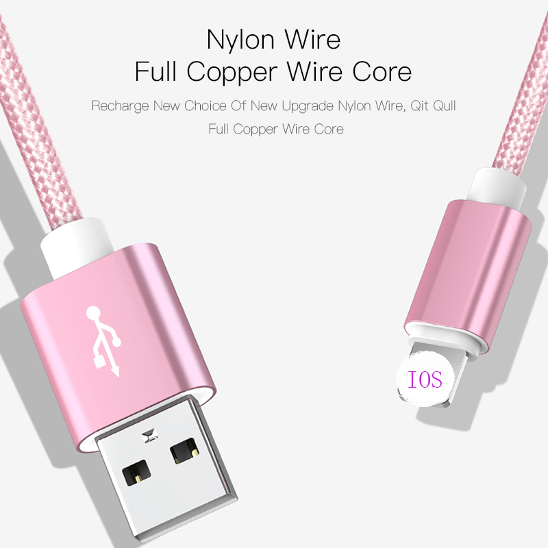 Image 4 - 25cm 1m 2m 3m Data USB Charger CableFor iPhone 6s 6 s 7 8 Plus Xs Max XR X 10 5s iPad Fast Charging V8 Long Wire Cord Nylon