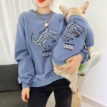 Семейная одежда miflame с собакой Мультяшные толстовки для домашних