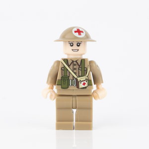 Image 4 - WW2 Military Weapon Building Blocks Gas Mask Army British Soldier Helmets Medical  Accessories Parts Bricks WW1 Kids Toy