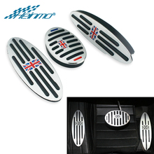 Auto apoio para os pés do pedal capa para mini cooper countryman acessórios f60 r60 clubman f54 r55 um r50 r53 r61 f55 f56 engrenagem automática