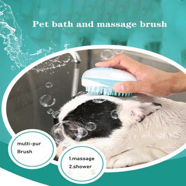 Pet bath brush Multifunction Cat Dog brush Shampoo Massage Brush  3