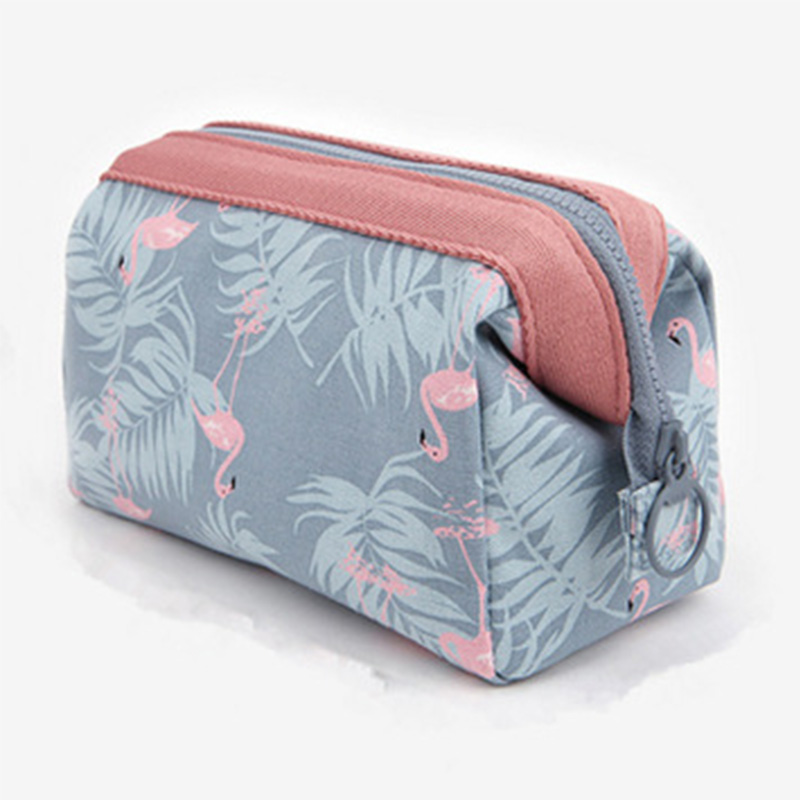 2020 Makeup Bags Toiletry Bag Women Leaf Flamingo Travel Cosmetic Bag Makeup Beauty Wash Organizer Bath Pouch Storage Case