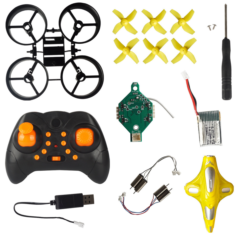 New Products Assembly Quadcopter Children Electric Remote Control Toy Unmanned Aerial Vehicle DIY Mini Remote Control Aircraft