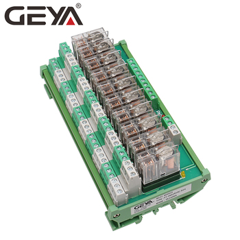 цена на GEYA 2NG2R DPDT Relay 10 Channel Omron Relay Module 2NO 2NC Plug in Relay 12V 24V