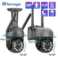 Techage Wireless Wifi IP Camera 3MP 1080P Two Way Audio Record Security Camera Full Color P2P CCTV Outdoor Video Surveillance