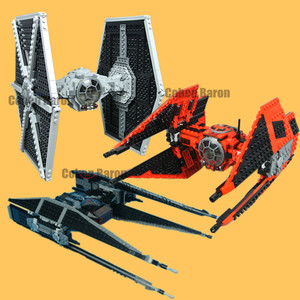 Image 1 - New Tie Fighter Model Fit Star Wars Figures Technic Model Kit 75179 Model Building Blocks Bricks Diy Toys for Children Gifts Kid