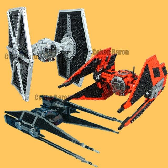 New Tie Fighter Model Fit Star Wars Figures Technic Model Kit 75179 Model Building Blocks Bricks Diy Toys for Children Gifts Kid
