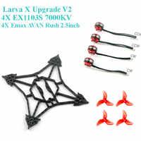 Happymodel Larva X actualización V2 Kit de marco de EX1103S 1103 7000KV Motor para RC Drone FPV Racing Cine Whoop palillo BetaFPV