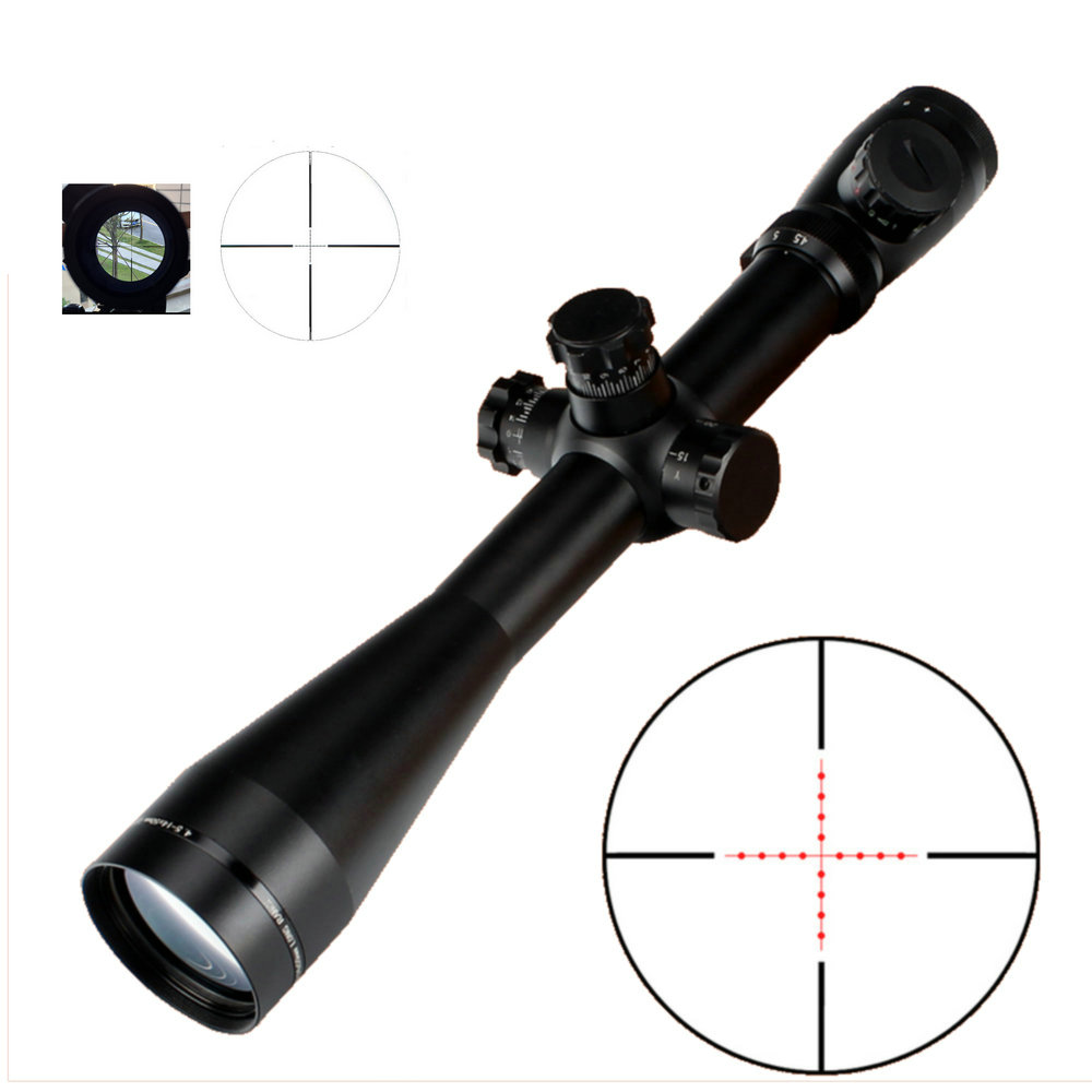 Ohhunt Hunting Optical Mark 4.5 -14x50 Rifle Scope M1 Riflescope Mil-Dot Glass Etched Reticle Red Green Illuminated Sights