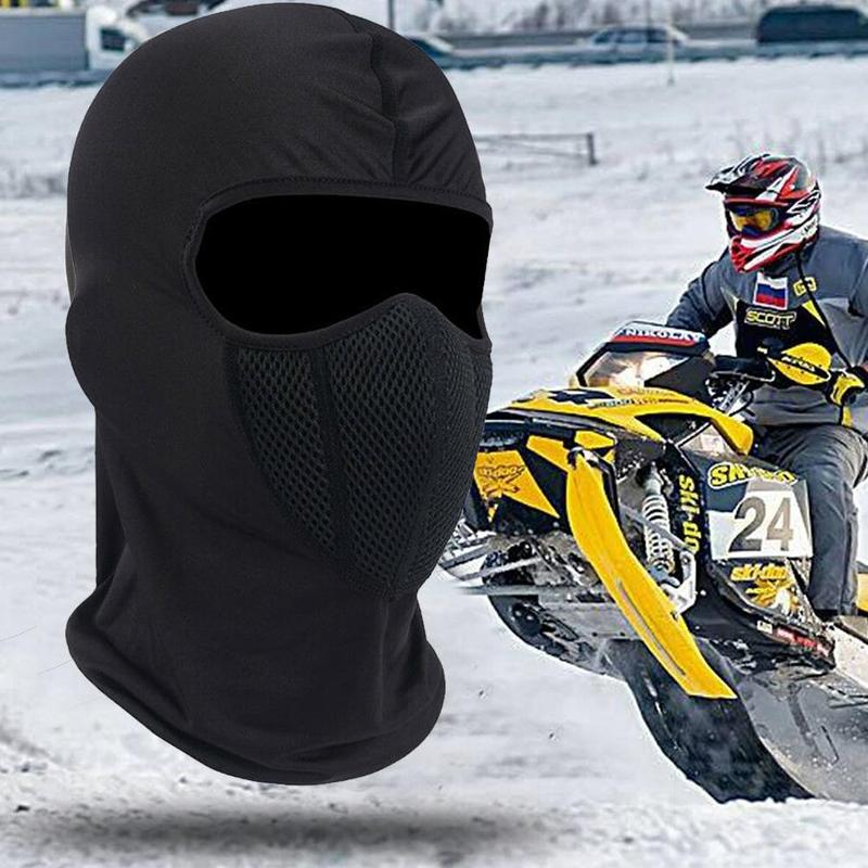 2019 New Winter Windproof Motorbike Bicycle Warmer Face Mask Outdoors Cycling Ski Face Mask Breathable Motorcycle Helmet Hood