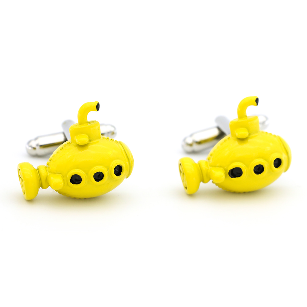 Submarine Cuff Links For Men Undersea Boat Design Quality Brass Material Yellow Color Cufflinks Wholesale&retail