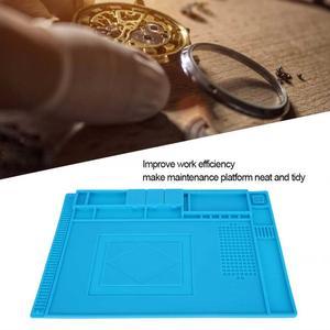 Image 3 - Alfombrilla de goma multifuncional para reparación de relojes, almohadilla de mesa para mantenimiento de electrónica, herramienta de reparación de relojes