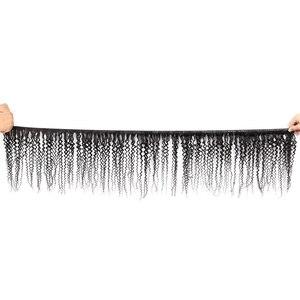 Image 3 - אמן שיער מתולתל חבילות עם סגירה פרואני שיער רמי תחרת סגר עם חבילות תוספות שיער טבעי 3 חבילות עם סגירה